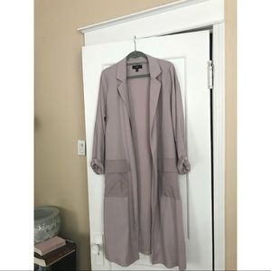 Lightweight Lavender Trench-style Duster